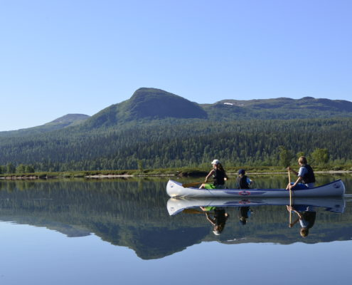 Canoeing on Leipikvattnet