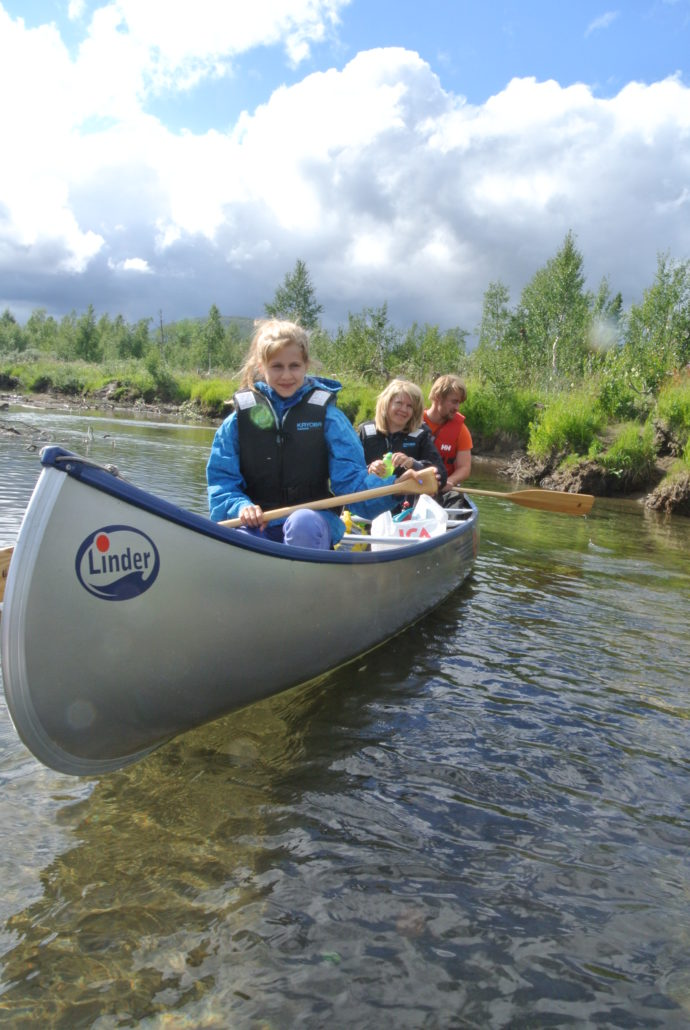 Canoeing in Bjurälven