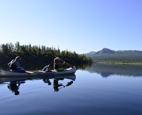 Canoe trip on Leipikvattnet